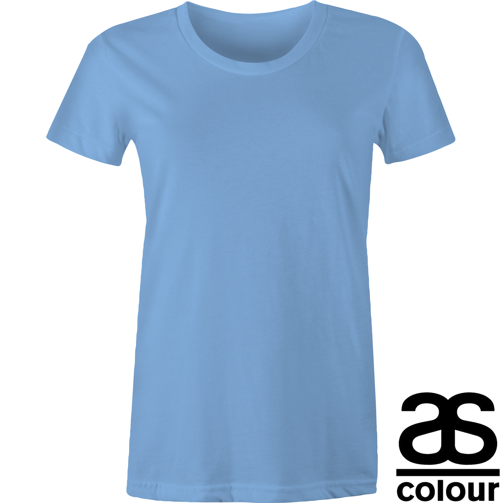 LADIES TWIN LAYER T-SHIRT CHOICE COLOURS 8 10 12 14 16 BLUE RUSH 100/% COTTON